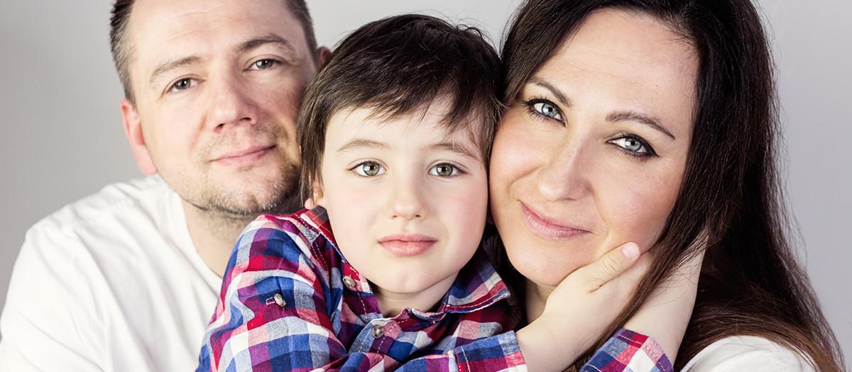Zdjęcia rodzinne w studio - Ania, Artur i Franek