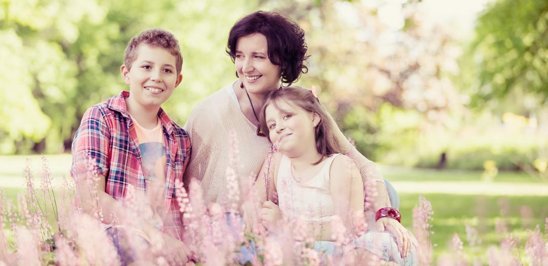 Wiosenna, rodzinna sesja zdjęciowa