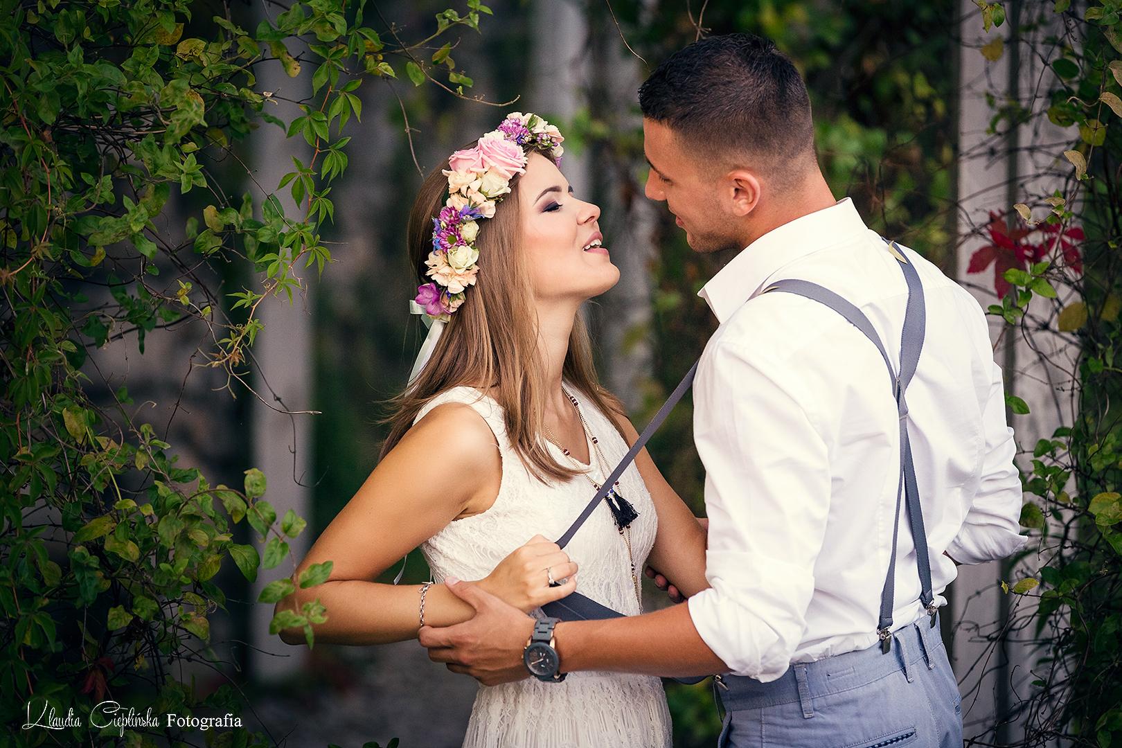 Artystyczne zdjęcia ślubne, rodzinne, portrety. Sesja w plenerze Jelenia Góra i parku w Bukowcu.