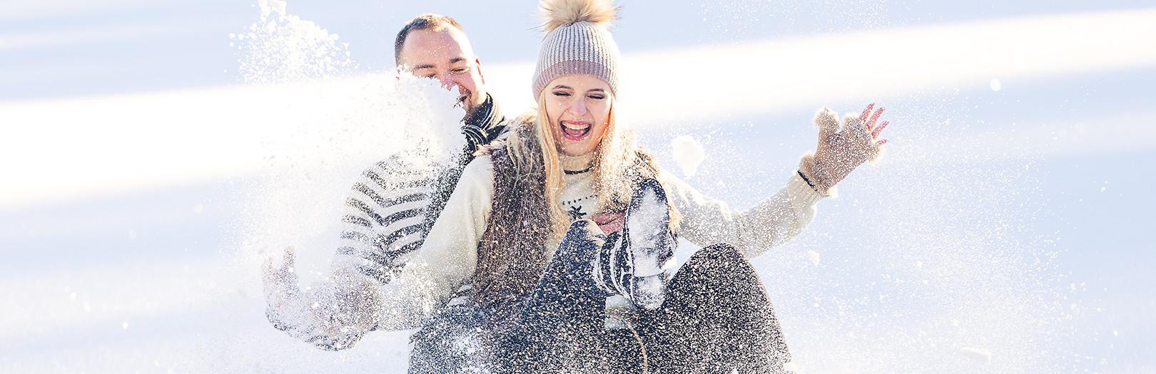 Klaudia i Marek - zimowa sesja plenerowa