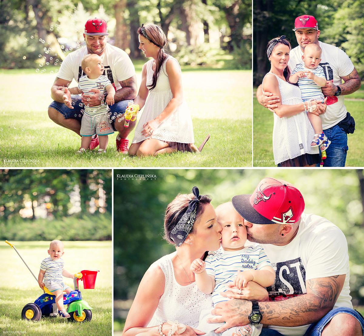 sesja rodzinna w plenerze w Parku Śląskim